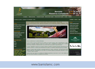 Barriola, maestros cortadores de jamón