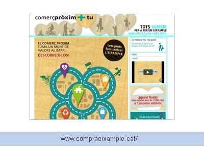 Diseño de página Web para Compres Eixample